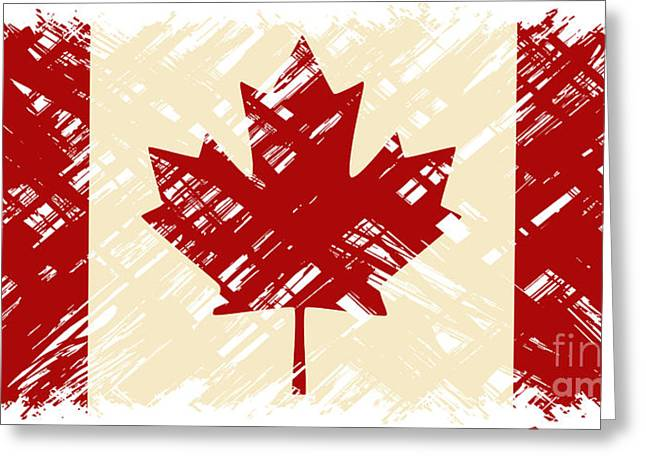 Canadian Grunge Flag. Vector Greeting Card by Khvost