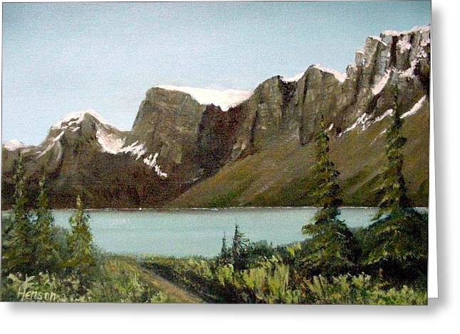 Canadian Lake Greeting Card
