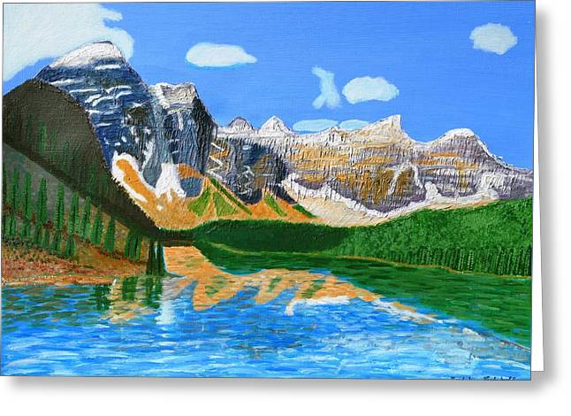 Canadian Mountains And Lake  Greeting Card