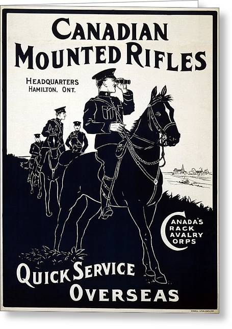 Canadian Mounted Rifles Greeting Card