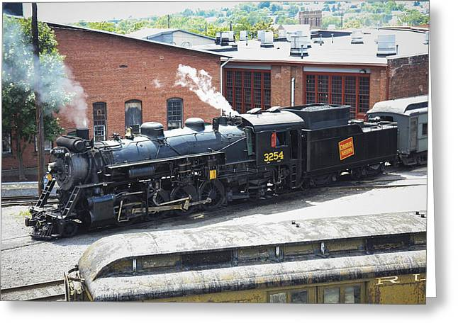 Canadian National Steam Locomotive Greeting Card