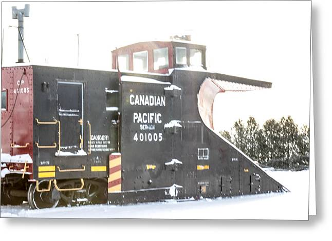 Canadian Pacific Snow Plow Greeting Card