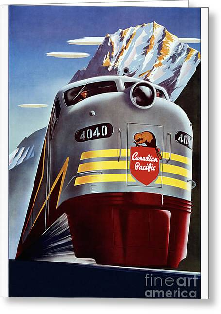 Canadian Pacific Travel Poster Greeting Card by Jon Neidert