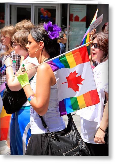 Canadian Rainbow Greeting Card