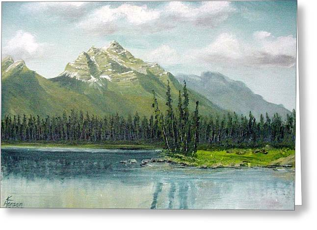 Canadian Rocky Mountains Greeting Card by Kenny Henson