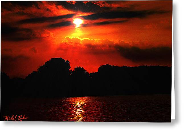 Canadian Sunrise Greeting Card by Michael Rucker