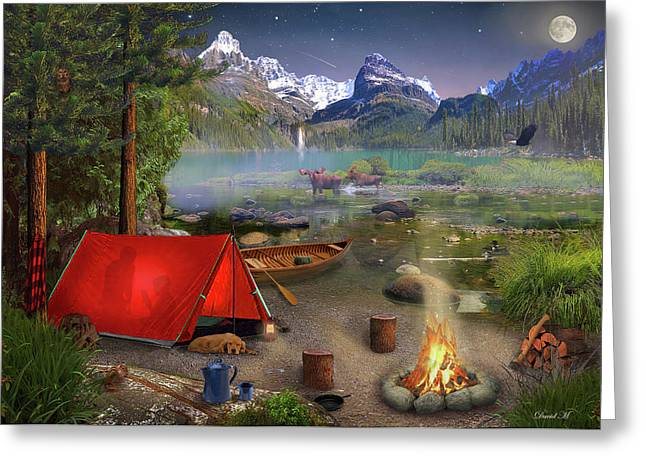 Canadian Wilderness Trip Greeting Card by David M ( Maclean )