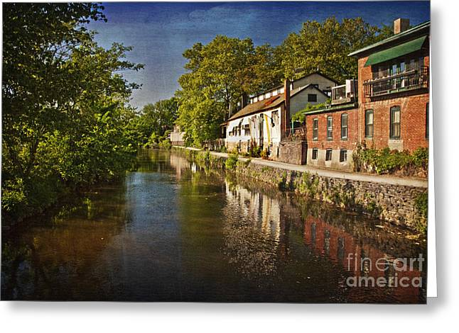 Greeting Card featuring the photograph Canal Along The Porkyard by Debra Fedchin