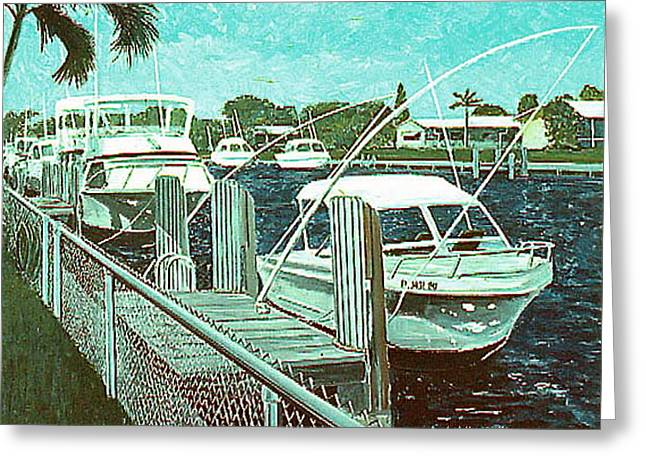 Canal At Pompano Greeting Card