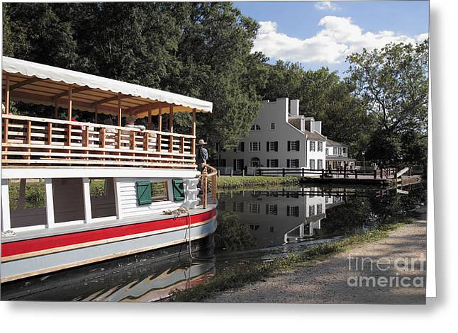 Canal Boat On The C And O Canal At Great Falls Tavern Greeting Card