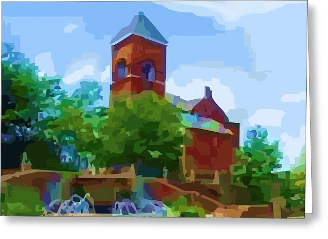 Canal Church Greeting Card by P Dwain Morris