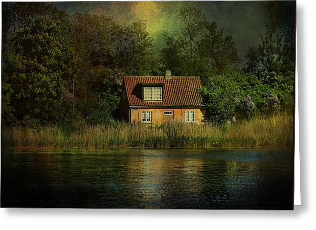 Canal Cottage Greeting Card by Kym Clarke