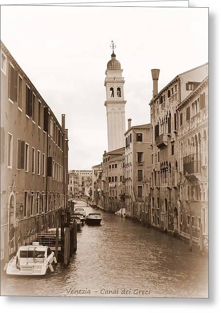 Canal Dei Greci Greeting Card by Bishopston Fine Art