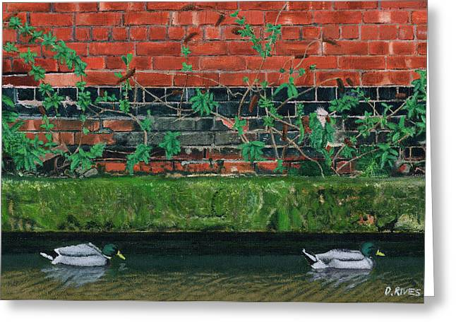 Canal Ducks Greeting Card