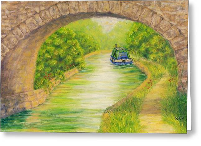 Canal In Wales Greeting Card by Rebecca Prough