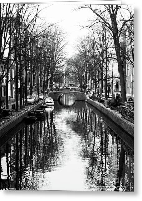 Canal Greeting Card by John Rizzuto