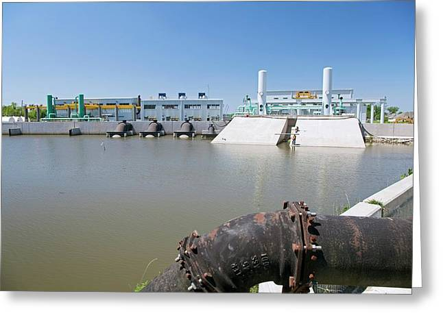 Canal Pumping Station Greeting Card by Jim West