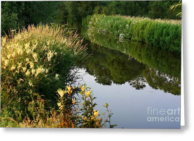 Greeting Card featuring the photograph Canal Reflections by Jeremy Hayden
