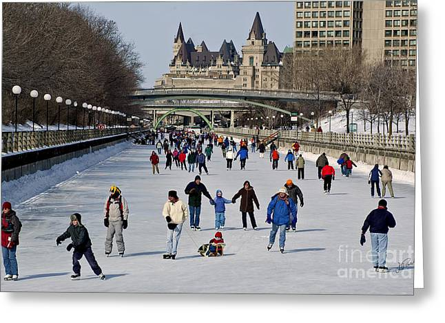 Canal Skate I Greeting Card by Jessie Parker