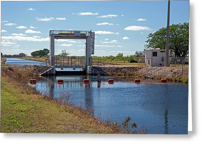 Canal Sluice Gate Greeting Card