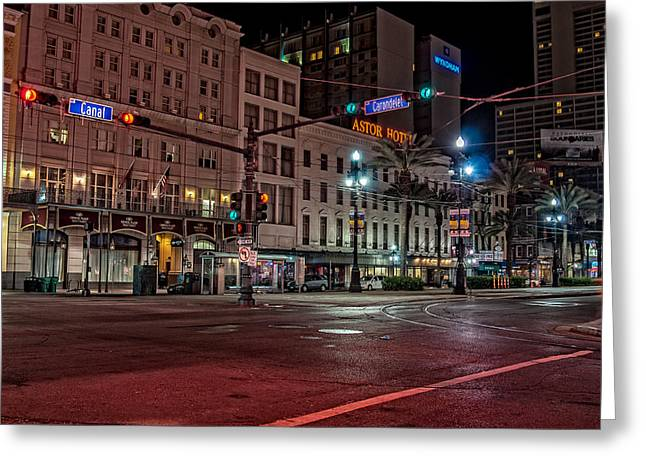 Canal Street And Carondelet - New Orleans Greeting Card