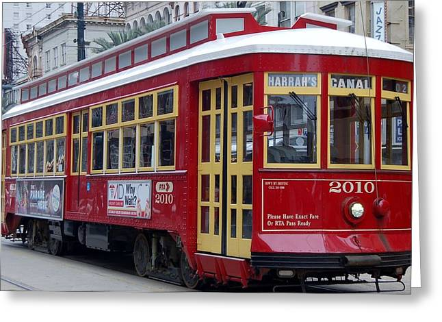Canal Streetcar Nola Greeting Card