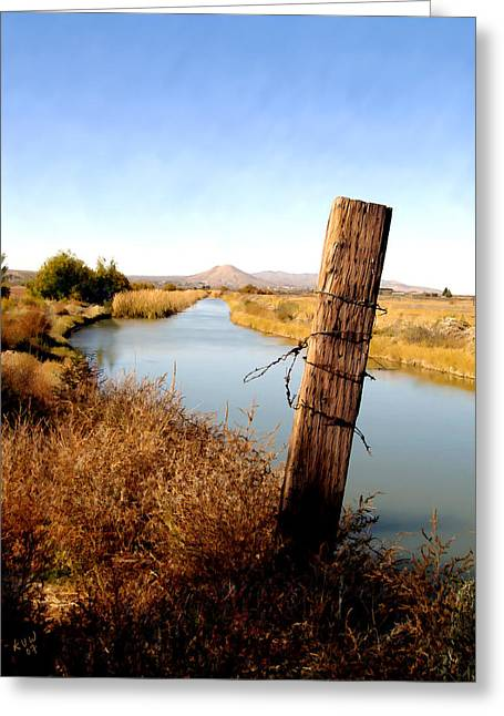 Canal View  Mesilla Greeting Card by Kurt Van Wagner