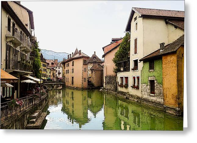 Canal View Number 1 Annecy France Greeting Card