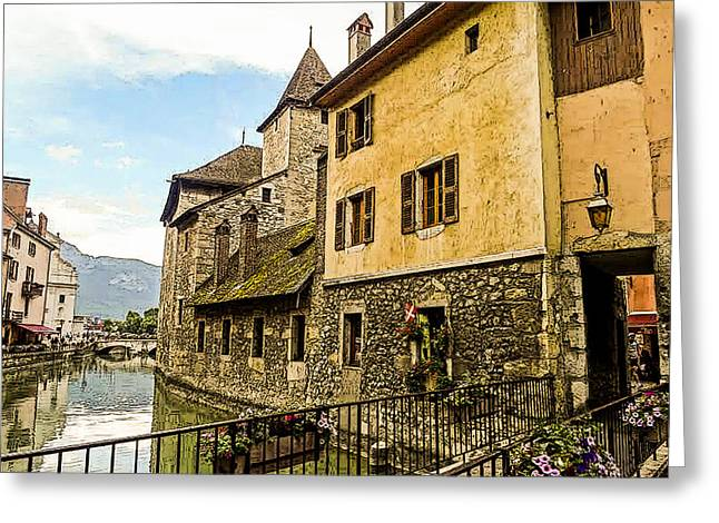 Canal View Number 2 Annecy France Greeting Card