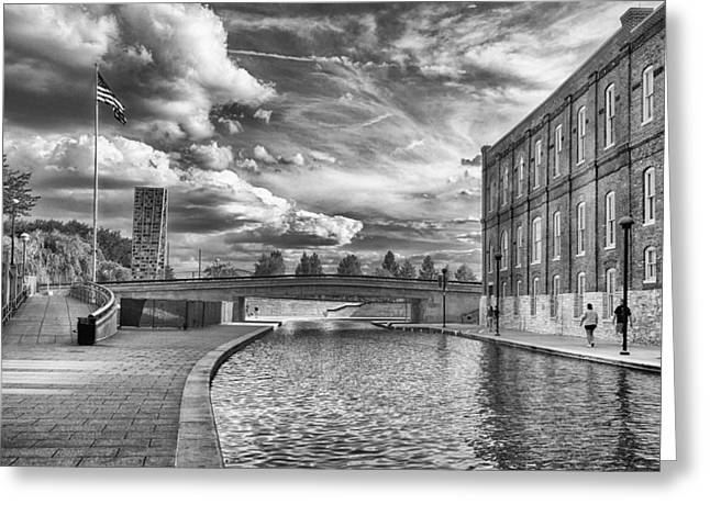 Greeting Card featuring the photograph Canal Walk by Howard Salmon