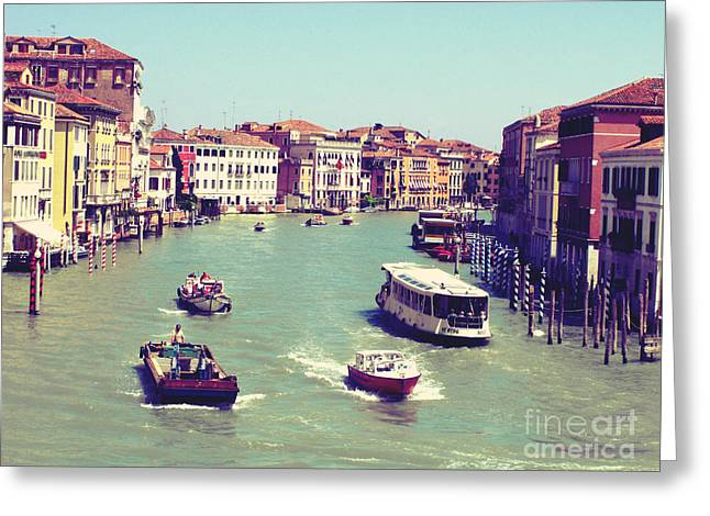 Canale Grande Venice Italy Greeting Card by Ernst Cerjak