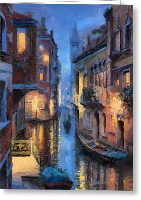 Canale Venice Greeting Card