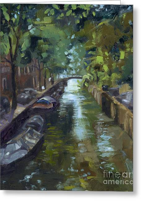 Sold Canals Of Coexistence Greeting Card
