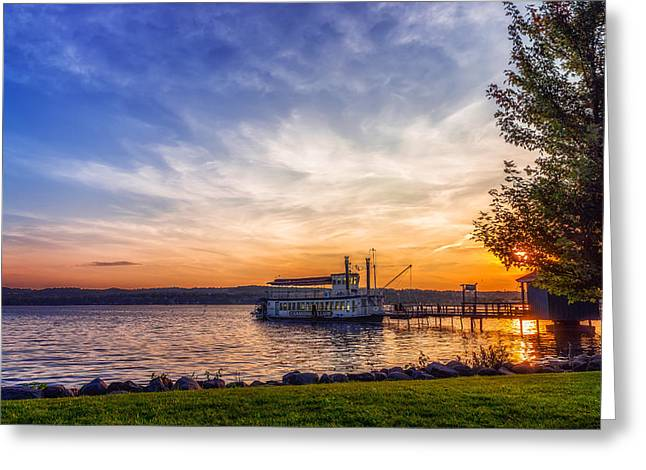 Canandaigua Lady Greeting Card by Mark Papke