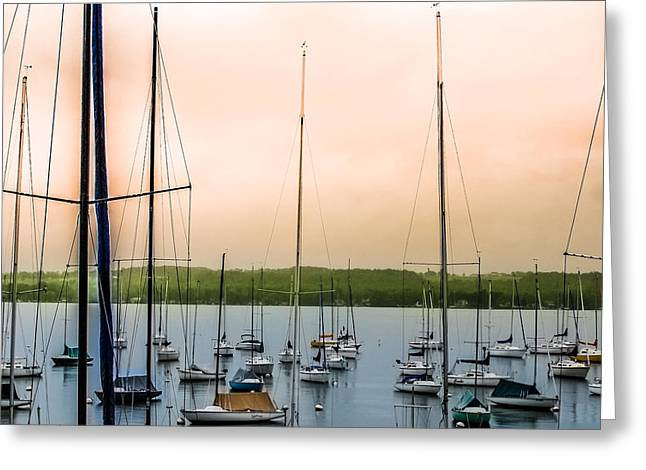 Canandaigua Lake Greeting Card by Ken Marsh