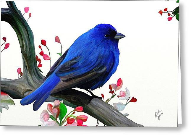 Canary Blue Morning Greeting Card