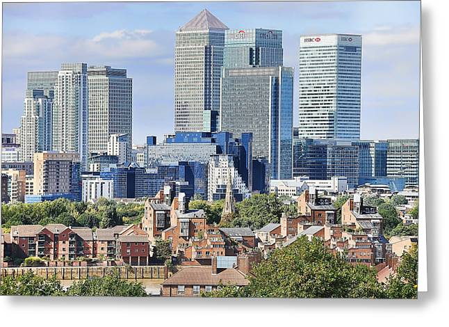 Canary Wharf Greeting Card