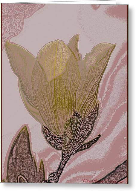 Canary Yellow Magnolia Greeting Card