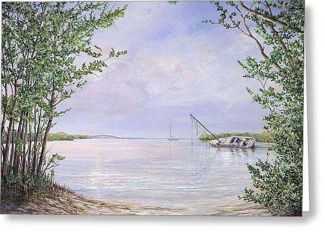 Canaveral Cove Greeting Card by AnnaJo Vahle