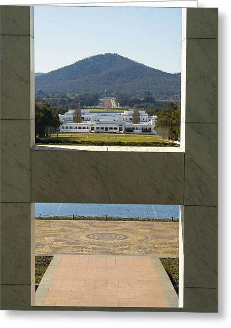 Canberra - Parliament House View Greeting Card by Steven Ralser