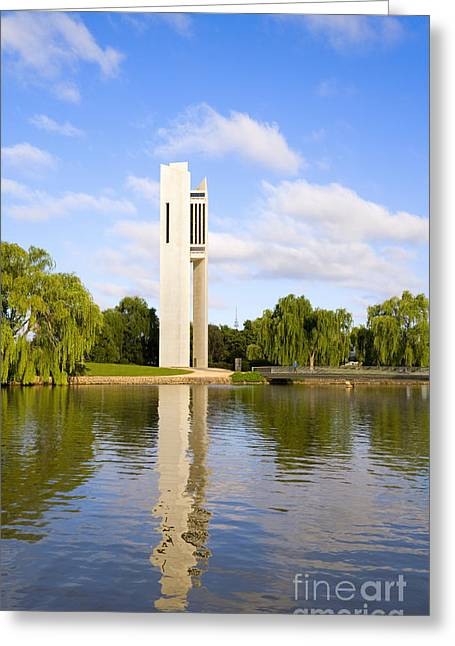 Canberra The Carillon Greeting Card by Colin and Linda McKie