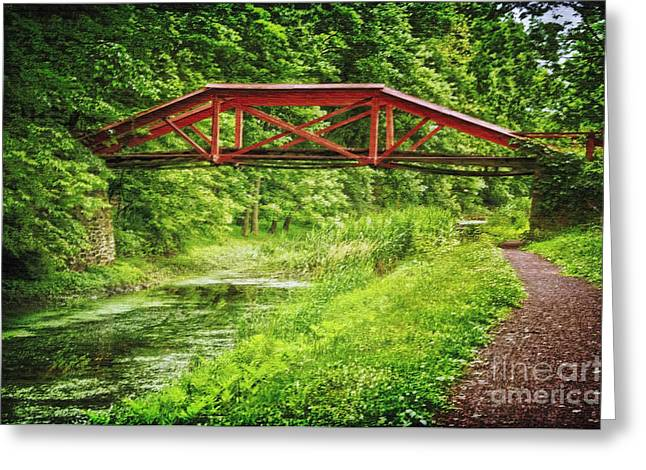Canal Bridge Greeting Card
