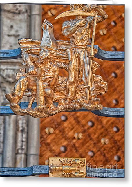 Cancer Zodiac Sign - St Vitus Cathedral - Prague Greeting Card by Ian Monk