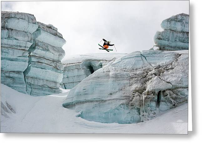 Candide Thovex Out Of Nowhere Into Nowhere Greeting Card