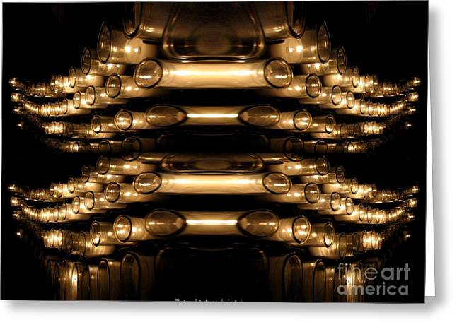 Candle Abstract 4 Greeting Card by Rose Santuci-Sofranko