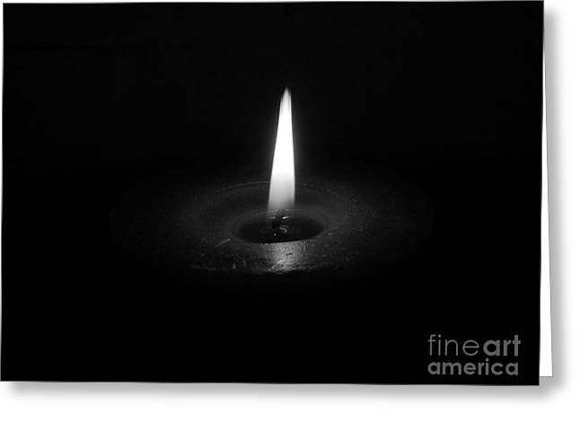 Candle B-w Greeting Card
