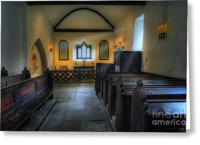 Candle Church Greeting Card by Ian Mitchell
