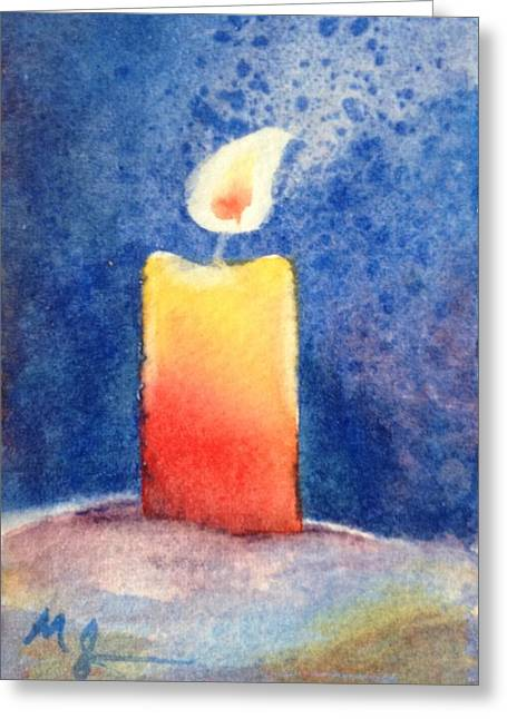 Candle Glow Greeting Card by Marilyn Jacobson