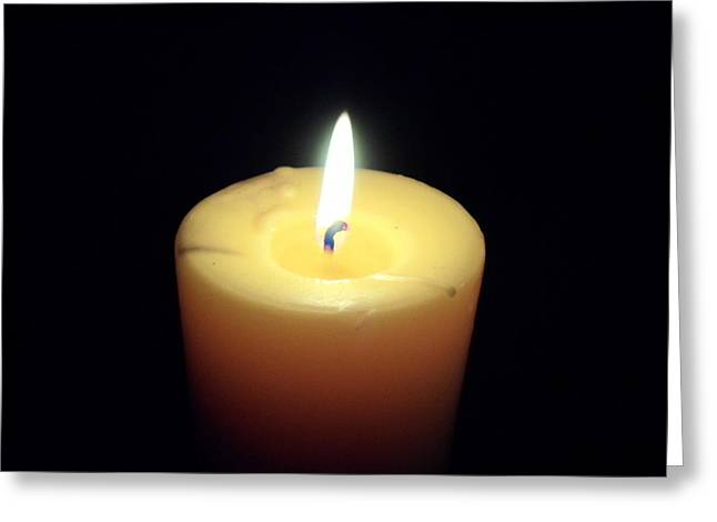 Candle Greeting Card by Jenna Mengersen
