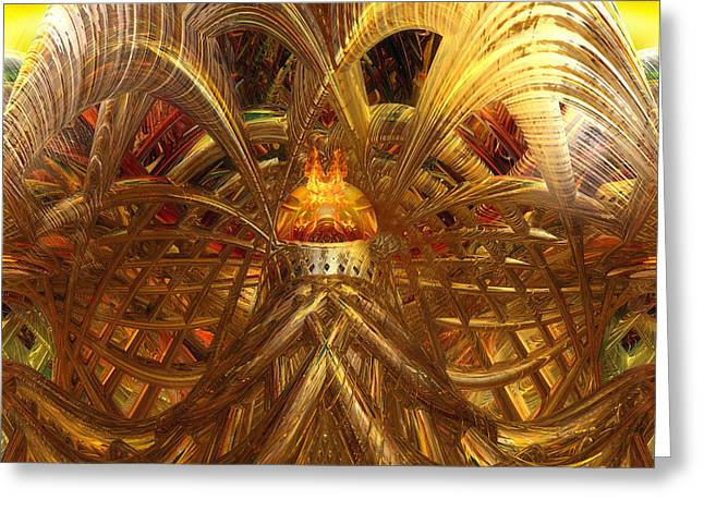 Candle Light Abstract Infiniti Fx  Greeting Card